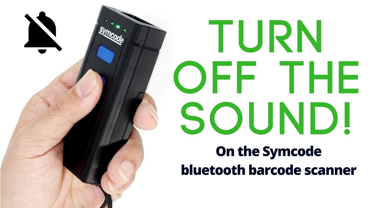 How To Silence Symcode Bluetooth Barcode Scanner, How To Turn Off The Sound
