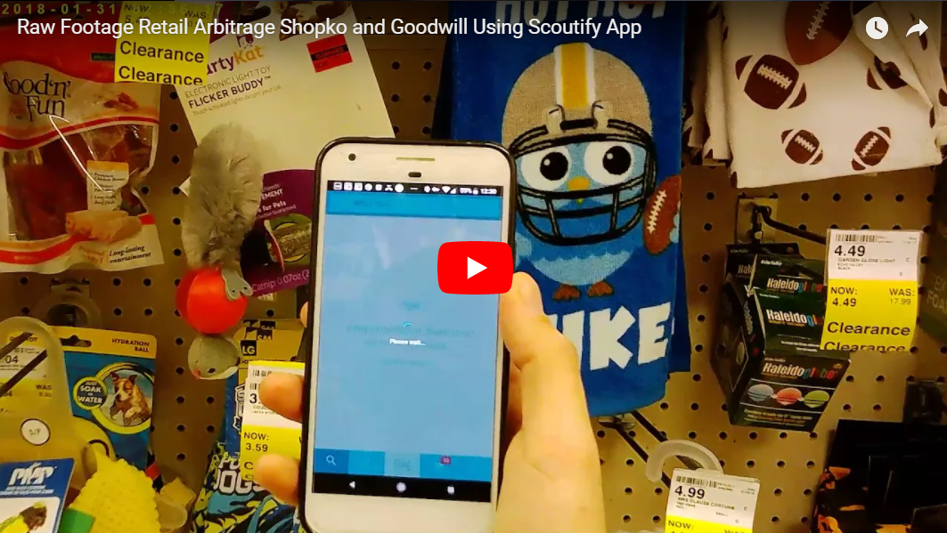 Raw Footage Retail Arbitrage Shopko and Goodwill Using Scoutify App