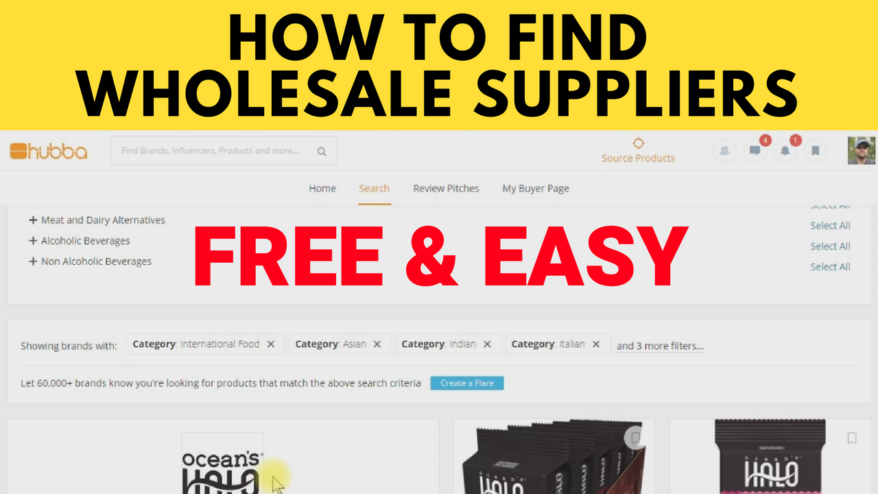 How to Find Amazon Wholesale Suppliers Using Hubba.com for FBA