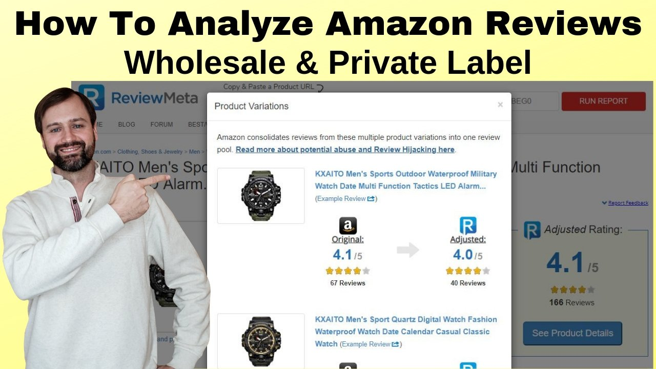 Analyzing Amazon Reviews for Wholesale Private Label, ReviewMeta Review